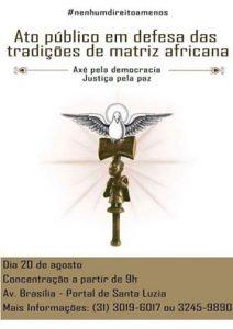Axé pela Democracia, Justiça pela Paz será neste domingo (20/08) 2