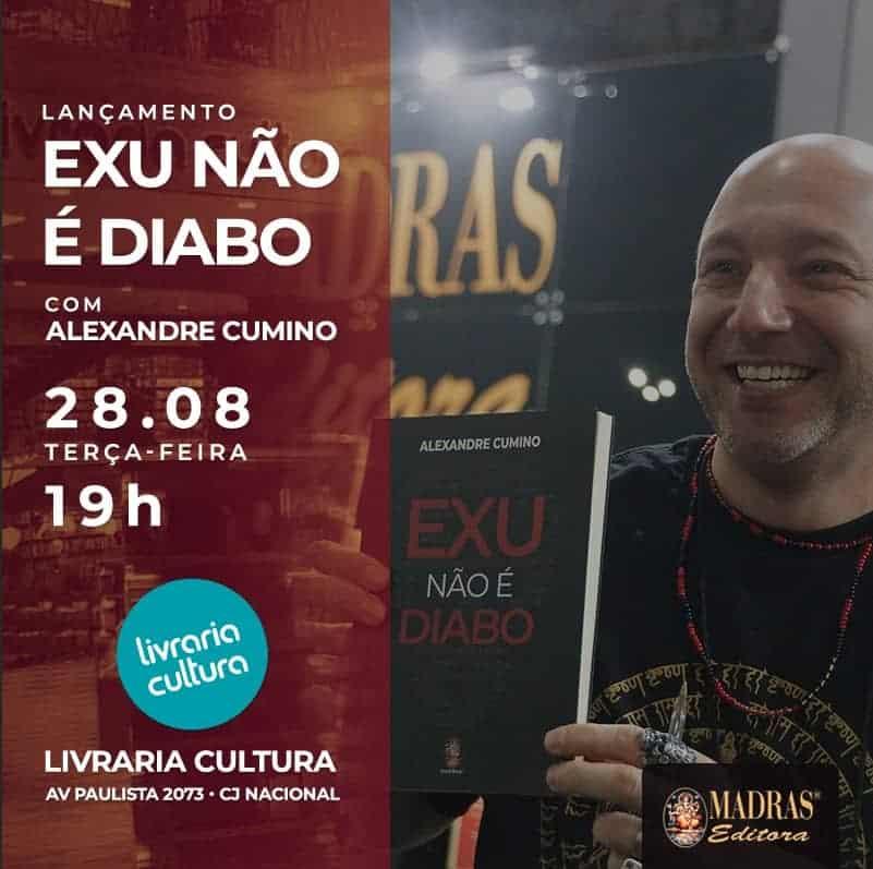 Exu não é Diabo: palestra e autógrafos na Paulista